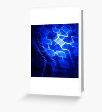 Abstract software algorithm flowchart art photo print Greeting Card