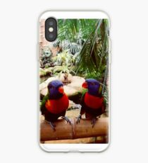Freche Regenbogen Lorikeets iPhone-Hülle & Cover
