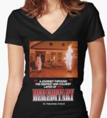 Retro Hereditary Fire Women's Fitted V-Neck T-Shirt