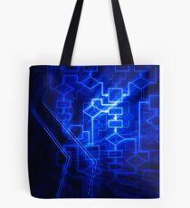 Flowchart algorithm diagram background art photo print Tote Bag
