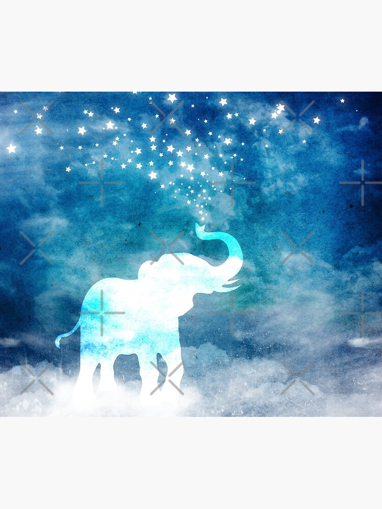 Magical Elephant Spouting Stars by jitterfly
