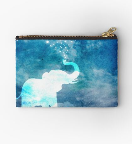 Magical Elephant Spouting Stars Studio Pouch