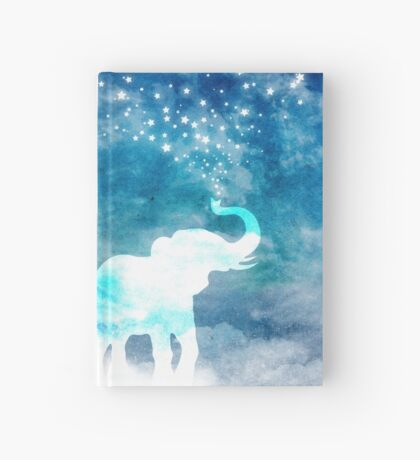 Magical Elephant Spouting Stars Hardcover Journal