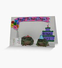 Ongo der Geburtstags-Frosch Grußkarte