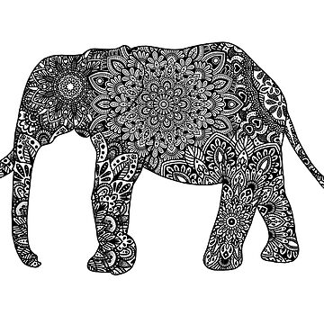 Mandala elefante de NicoleHarvey