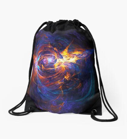 """When Space Met Time"" (square) Drawstring Bag"