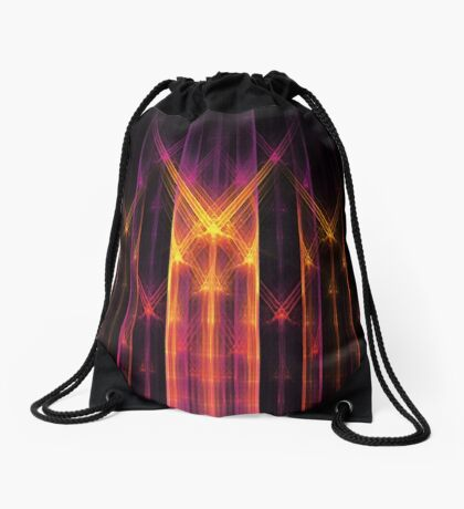 """""""Keeper of the Gate"""" (square) Drawstring Bag"""