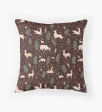 The Running of the Deer - Brown Floor Pillow