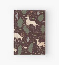 Cuaderno de tapa dura El funcionamiento del ciervo - Marrón