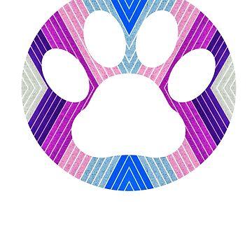 Dog Paw Cat Paw Gift Pet Lover by YuliyaR