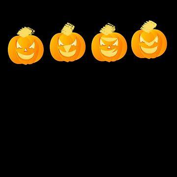 Halloween Jack O'Lantern Pumpkins by PragmaticFalcon