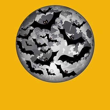 Moon and Bats Halloween by PragmaticFalcon