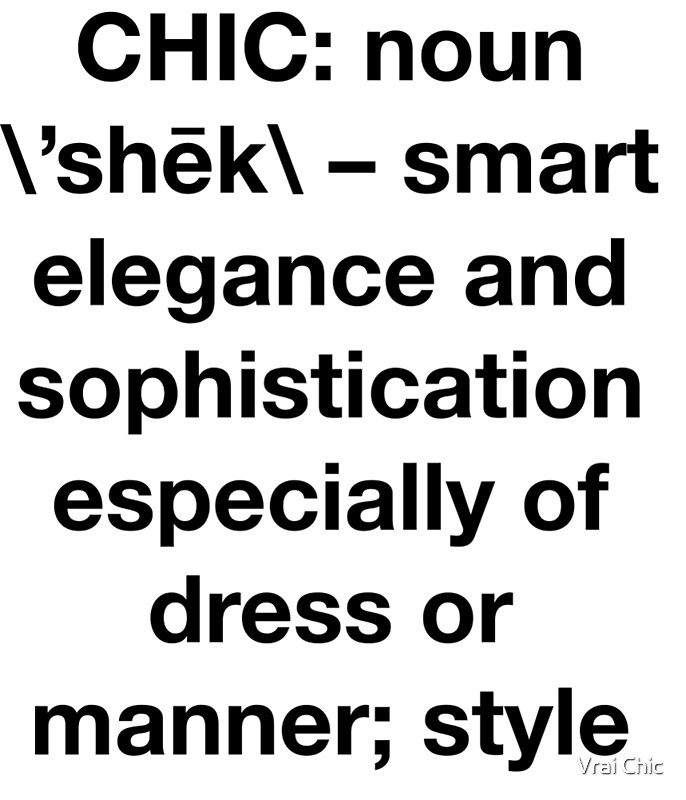 Definition Of Chic Sans Serif Hipster Trendy