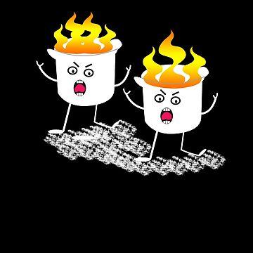 Flaming Marshmallows Camping by PragmaticFalcon
