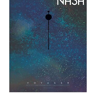 NASA Voyager Poster by martynesmerch