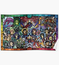 Thrilling Intent: Stained Glass Mosaic Poster