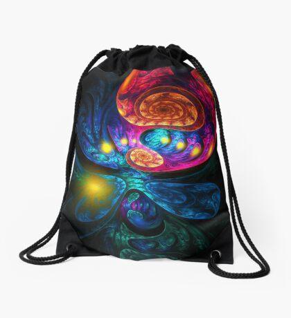 """Evolution of a Dragon"" (square) Drawstring Bag"