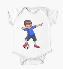 Abtupfendes Fußball-T-Shirt für Jungen tupfen Tanz-lustiges Fußball-T-Stück Baby Body Kurzarm