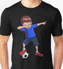 3486d3f2 Dabbing Soccer T shirt for Boys Dab Dance Funny Football Tee Unisex T-Shirt