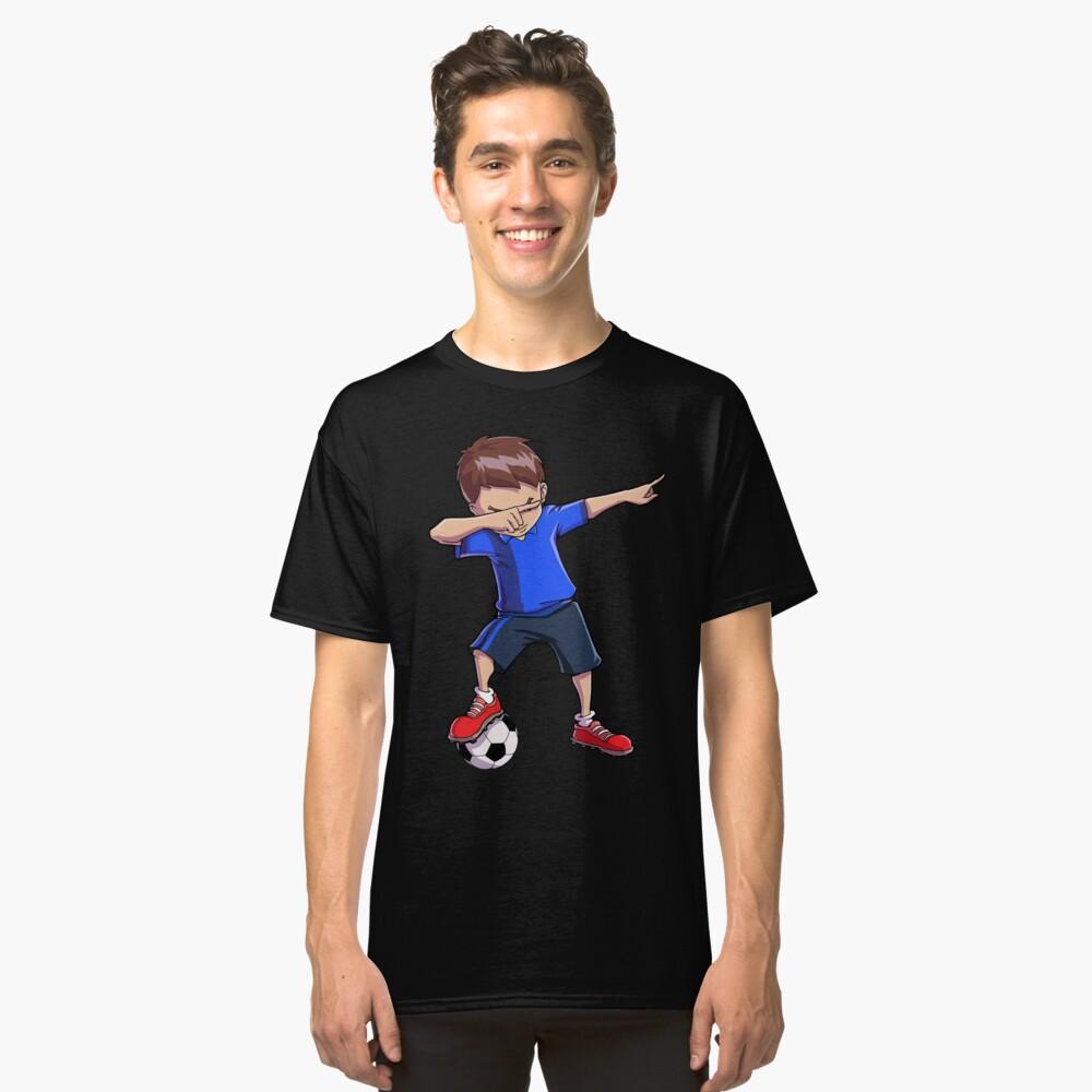 Abtupfendes Fußball-T-Shirt für Jungen tupfen Tanz-lustiges Fußball-T-Stück Classic T-Shirt