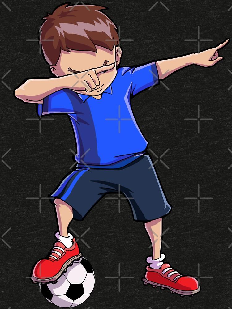 Abtupfendes Fußball-T-Shirt für Jungen tupfen Tanz-lustiges Fußball-T-Stück von LiqueGifts