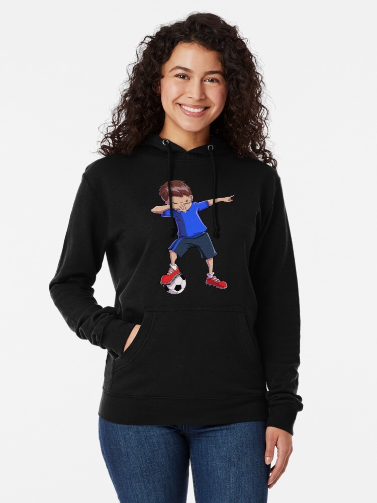 Alternative Ansicht von Abtupfendes Fußball-T-Shirt für Jungen tupfen Tanz-lustiges Fußball-T-Stück Leichter Hoodie