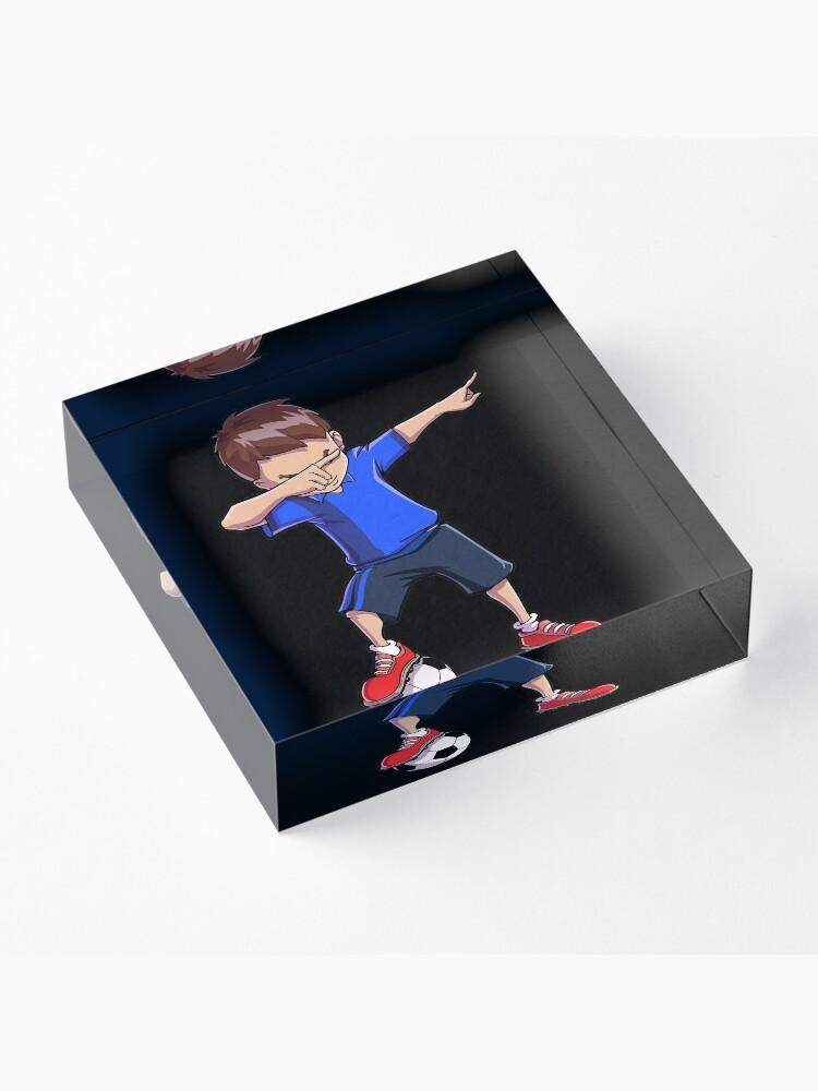 Alternative Ansicht von Abtupfendes Fußball-T-Shirt für Jungen tupfen Tanz-lustiges Fußball-T-Stück Acrylblock