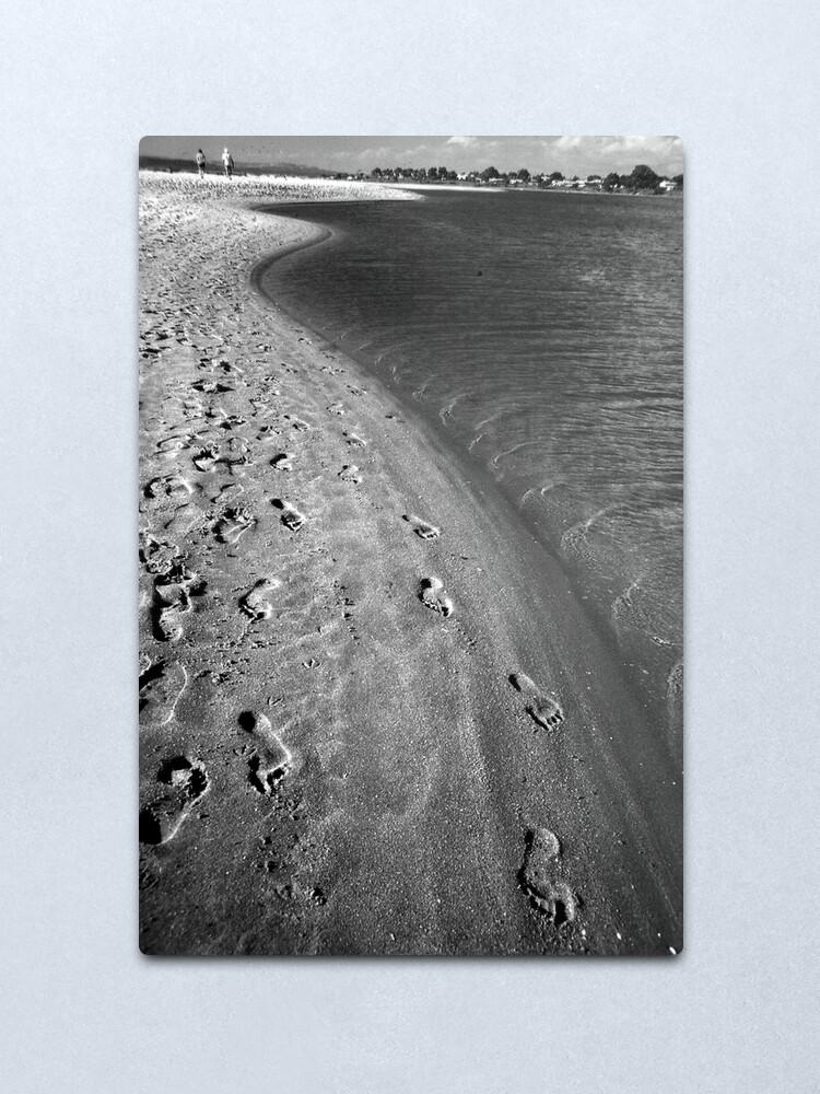 Alternate view of Footprints In The Sand Metal Print