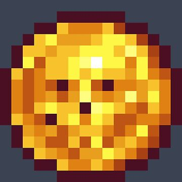 Pixel Gold Coin D by BenHenry