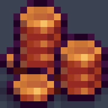Pixel Copper Coins E by BenHenry