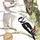 Native american astrology sign woodpeckper (cancer) by AtelierLinty