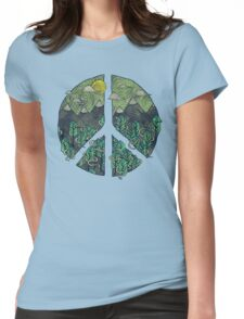 Peaceful Landscape Womens Fitted T-Shirt