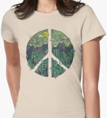Peaceful Landscape Women's Fitted T-Shirt