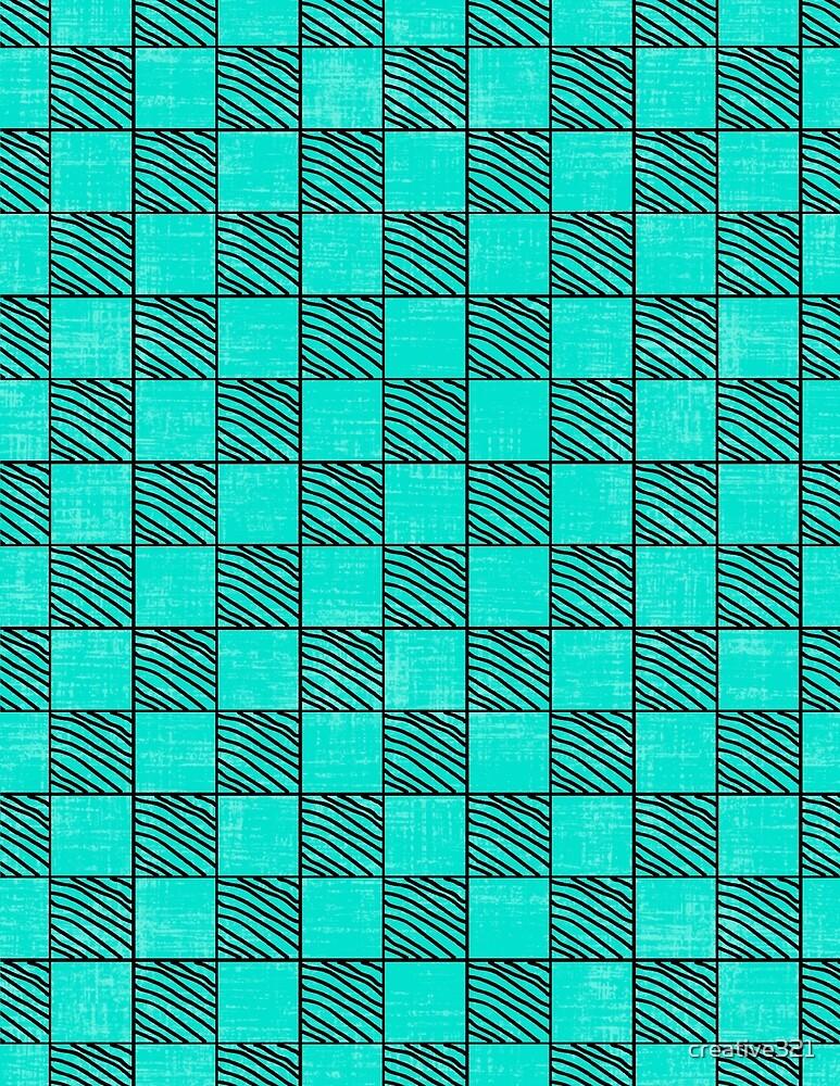 Fun Checks with a Twist Aqua by creative321