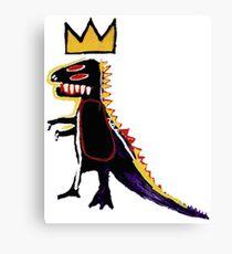 Basquiat Dinosaur Canvas Print