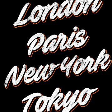 London - Paris - New York - Tokyo Design - Shirt for Travelers by JannikGHG