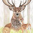 Native American Astrology sign Deer (gemini) by AtelierLinty