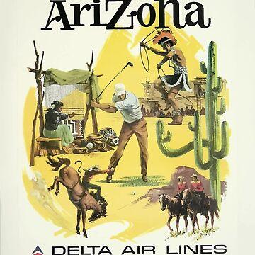 Vintage Travel Poster Arizona by G-Design