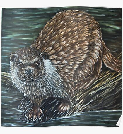 """European Otter"" - Oil Painting Poster"