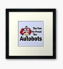 Transformers - The Few The Proud - Black Font Framed Print