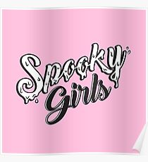 Spooky Girls (Pink) Poster