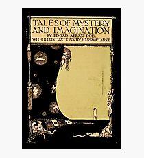 Geschichten von Geheimnis und Phantasie Edgar Allen Poe Cover Fotodruck