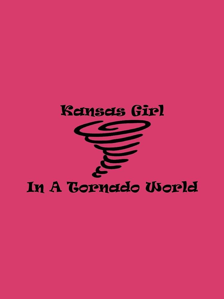 Kansas Girl In A Tornado World by teesbyveterans
