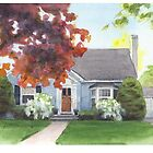 house watercolor by Mike Theuer