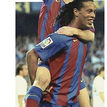 Messi - Ronaldinho - first goal messi by opngoo