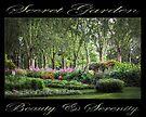 Secret Garden, Beauty & Serenity (on black) by Ray Warren