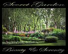 Secret Garden, Beauty & Serenity (on black) by Ray Warren