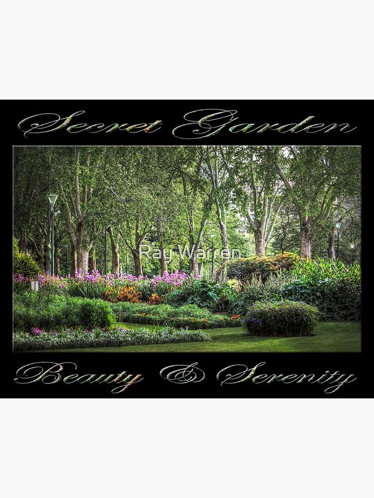 Secret Garden, Beauty & Serenity (on black) by RayW