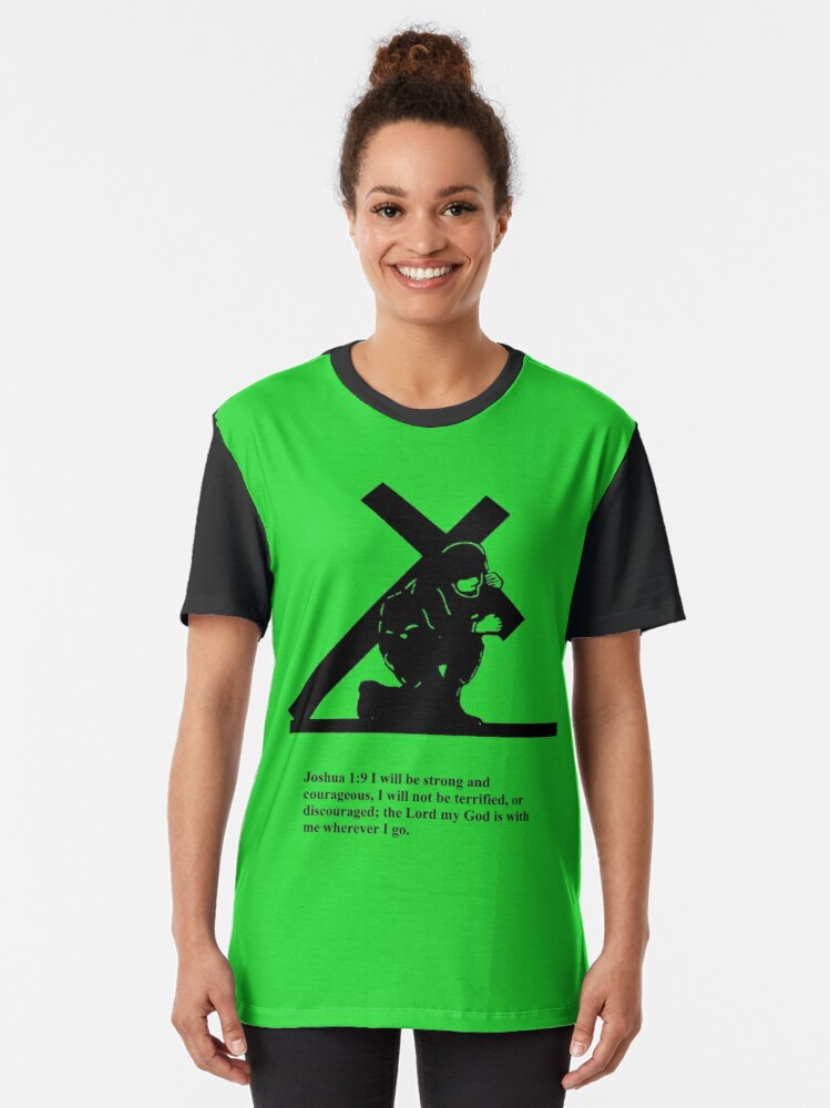 Alternate view of Soldier Bearing Cross Graphic T-Shirt