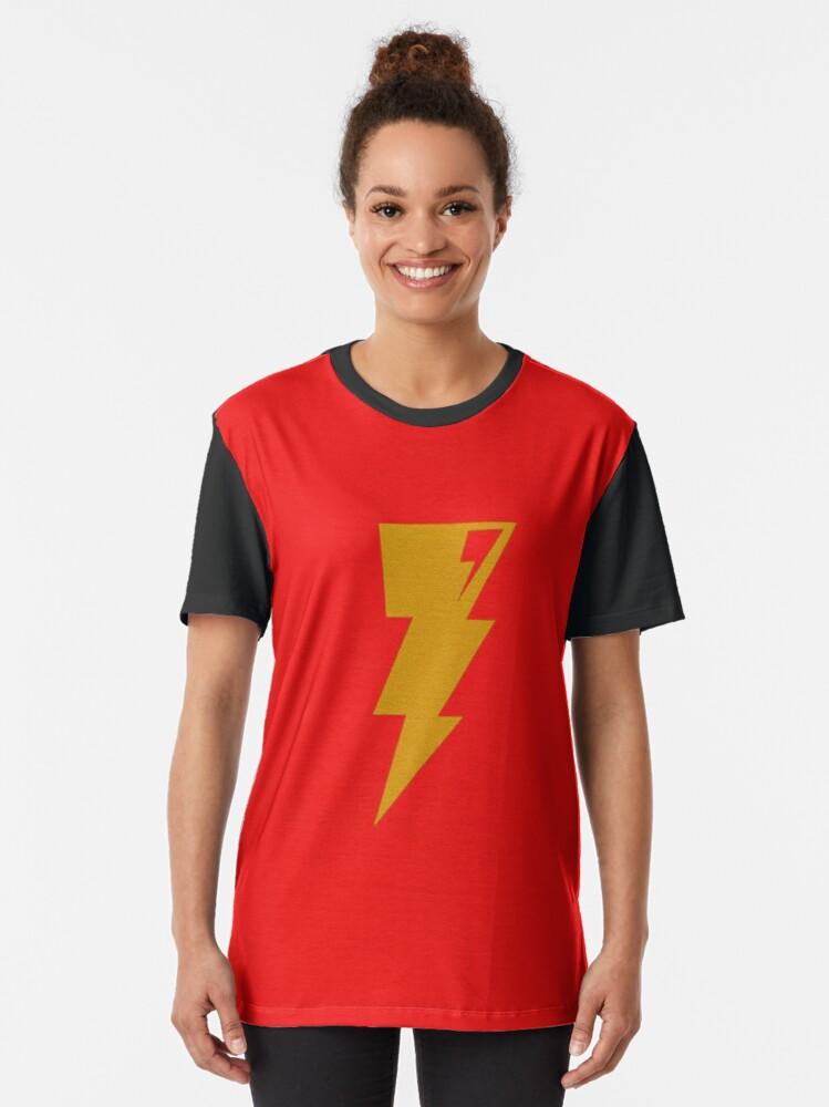 Alternate view of Gold Bolt of Lightning Graphic T-Shirt